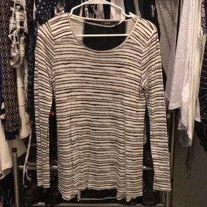 NWOT striped shirt with black vertical detail